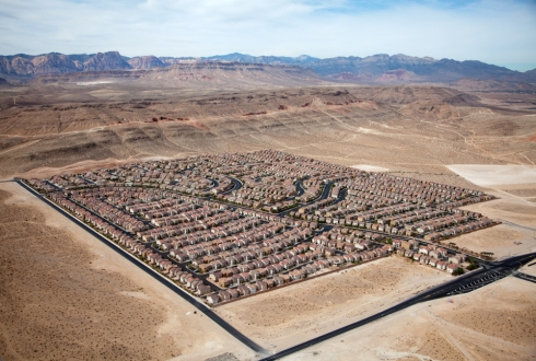 This single-use residential subdivision block is devoid of any urban amenities.